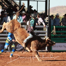 Mt Isa Rodeo 2019 - Fri Afternoon - Jnr Bull Ride - Sect 2