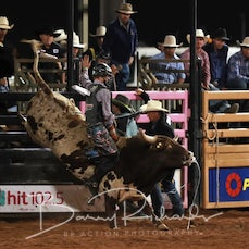 Mt Isa Rodeo 2019 - Fri Evening - 2nd Div Bull Ride - Sect 3