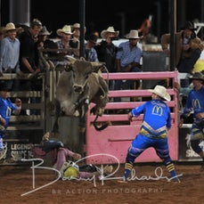 Mt Isa Rodeo 2019 - Fri Evening - Over 40's Bull Ride - Sect 1