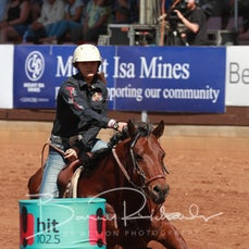 Mt Isa Rodeo 2019 - Sat Afternoon - Open Barrel Race - Rd 2 - Sect 1