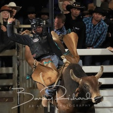 Mt Isa Rodeo 2019 - Sat Evening - Open Bull Ride - Rd 2 - Sect 2