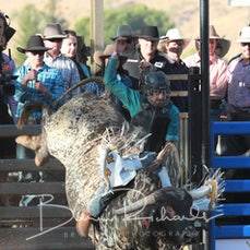 Mt Isa Rodeo 2019 - Sat Afternoon - 2nd Div Bull Ride - Sect 4