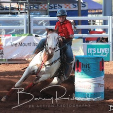 Mt Isa Rodeo 2019 - Open Barrel Race - Rd 2 - Sect 2