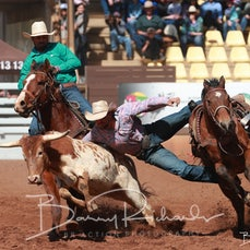 Mt Isa Rodeo 2019 - Sat Afternoon - Steer Wrestling - Rd 2 - Sect 1