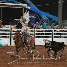 Mt Isa Rodeo 2019 - Sat Evening - Team Roping - Rd 2 - Sect 3