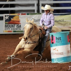 Mt Isa Rodeo 2019 - Sat Evening - Open Barrel Race - Rd 2 - Sect 3