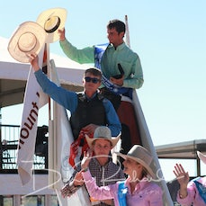 Mt Isa Rodeo 2019 - Sunday Morning -  2nd Div Bull Ride Victory Lap