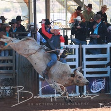 Mt Isa Rodeo 2019 - Sunday Morning - Open Bull Ride - Rd 2 - Sect 3