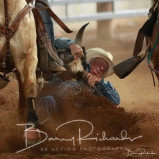 Mt Isa Rodeo 2019 - Sat Evening - Steer Wrestling - Rd 2 - Sect 3