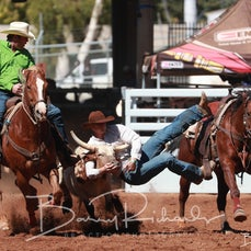 Mt Isa Rodeo 2019 - Sunday Afternoon - Steer Wrestling - Rd 2 - Sect 4