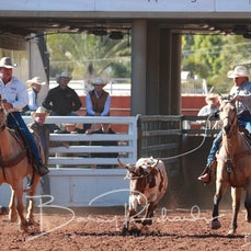 Mt Isa Rodeo 2019 - Sunday Morning - Over 55's Team Roping - Sect 2