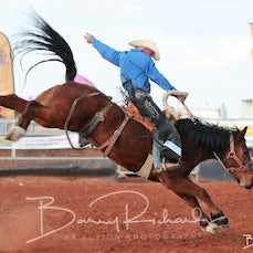 Cloncurry Rodeo 2019 - Sat Performance - Open Saddle Bronc - Sect 3