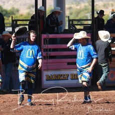 Mt Isa Rodeo 2019 - Sunday Afternoon - Rodeo Protection Clowns Salute