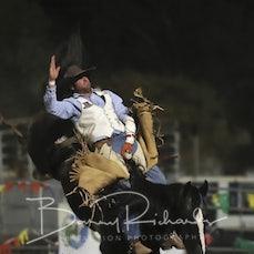 Springsure Rodeo 2019 - Open Bareback - Sect 1
