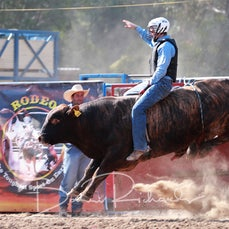 Myrtleford Rodeo 2019 - 2nd Div Bull Ride - Sect 1