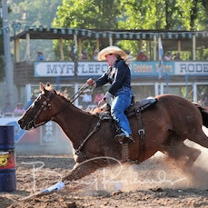 Myrtleford Rodeo 2019 - Open Barrel Race - Sect 1