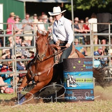 Tallangatta Rodeo 2019 - Open Barrel Race - Sect 1