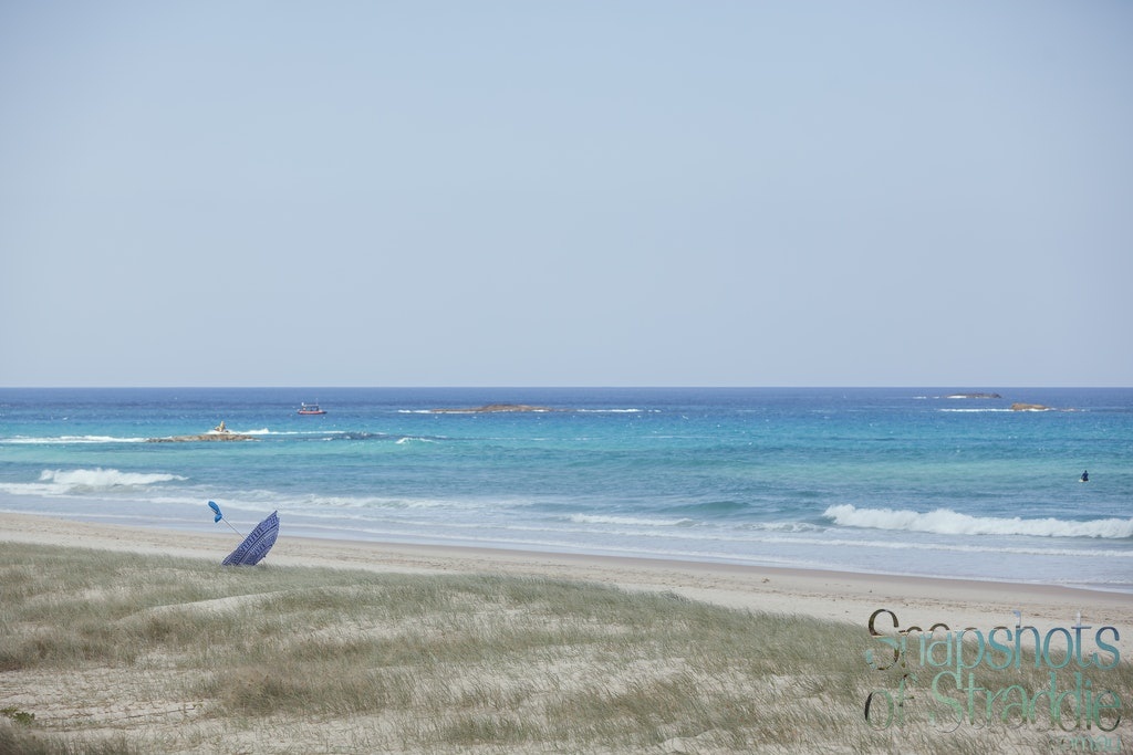 Runaway Umbrella - Snapshots of Straddie. Wall Art Landscape and Seascape Photography by Julie Sisco. Photos from North Stradbroke Island, Queensland,...