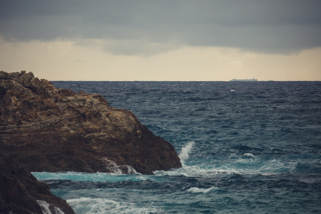 Passing ship - Snapshots of Straddie. Wall Art Landscape and Seascape Photography by Julie Sisco. Photos from North Stradbroke Island, Queensland, Australia....