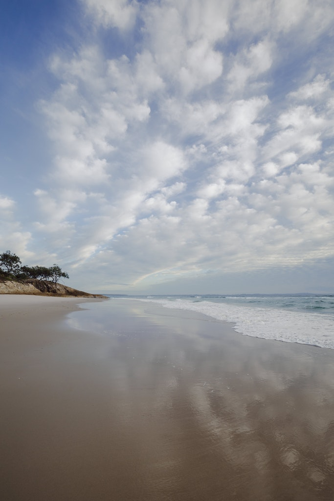 Adder end of Home Beach with clouds - Snapshots of Straddie. Wall Art Landscape and Seascape Photography by Julie Sisco. Photos from North Stradbroke Island,...