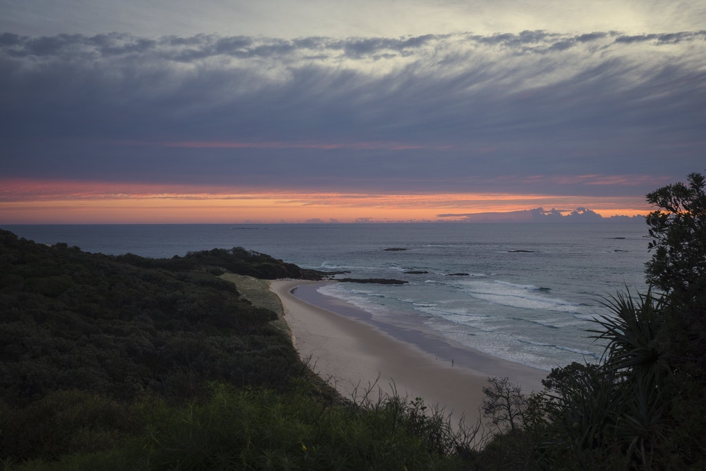 Frenchmans at sunrise - Snapshots of Straddie. Wall Art Landscape and Seascape Photography by Julie Sisco. Photos from North Stradbroke Island, Queensland,...