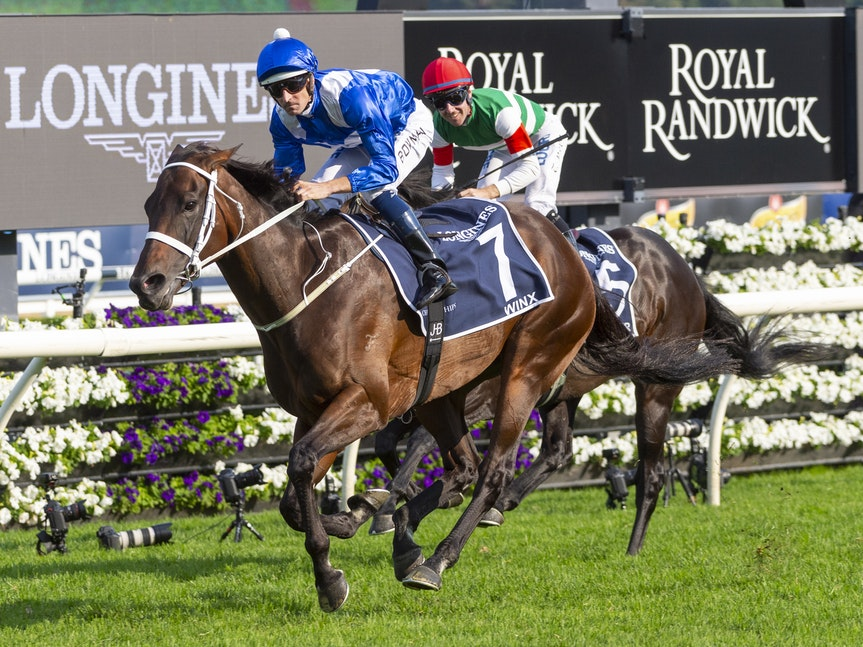 Winx-BowmanHugh-20190413-7300 - Champion WINX wins her final race start in the G1 Queen Elizabeth Stakes.  It was her 33rd consecutive victory and 25th...