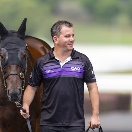 Winx-Arriving-20190302-1540 - Champion WINX arrives at Royal Randwick before the G1 Chipping Norton Stakes.  She is being led by regular strapper Umut...