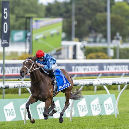 Funstar-McDonaldJames-20191005-1198 - Funstar (Adelaide - Starspangeled) ridden by James McDonald wins the (G1) Darley Flight Stakes (1600m) at Royal Randwick....