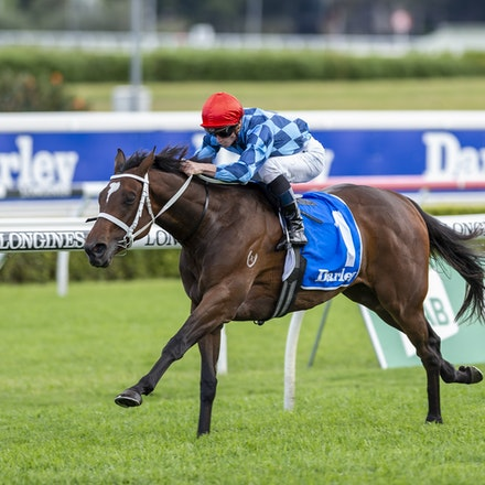 Funstar-McDonaldJames-20191005-1208 - Funstar (Adelaide - Starspangeled) ridden by James McDonald wins the (G1) Darley Flight Stakes (1600m) at Royal Randwick....
