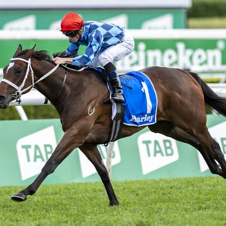 Funstar-McDonaldJames-20191005-1212 - Funstar (Adelaide - Starspangeled) ridden by James McDonald wins the (G1) Darley Flight Stakes (1600m) at Royal Randwick....