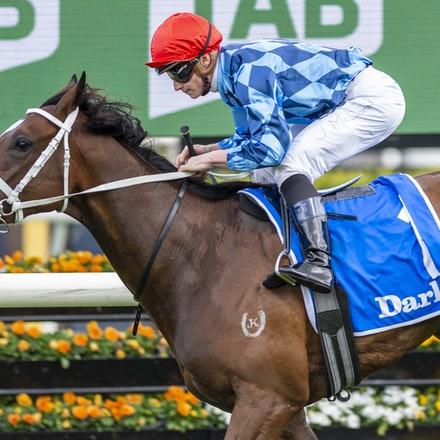 Funstar-McDonaldJames-20191005-1221 - Funstar (Adelaide - Starspangeled) ridden by James McDonald wins the (G1) Darley Flight Stakes (1600m) at Royal Randwick....