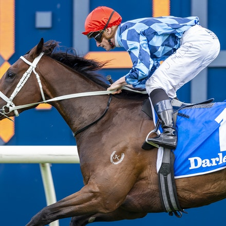 Funstar-McDonaldJames-20191005-1226 - Funstar (Adelaide - Starspangeled) ridden by James McDonald wins the (G1) Darley Flight Stakes (1600m) at Royal Randwick....
