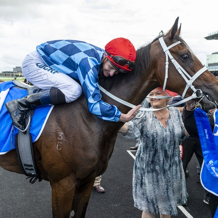 Funstar-McDonaldJames-20191005-5713 - Funstar (Adelaide - Starspangeled) ridden by James McDonald returns to scale after winning the (G1) Darley Flight...