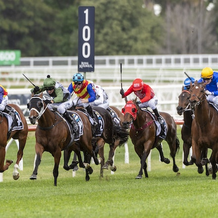 YesYesYes-BossGlen-20191019-2318 - Yes Yes Yes (Rubick - Sin Sin Sin) ridden by Glen Boss wins the 2019 TAB Everest (1200m) at Royal Randwick. 19 October...