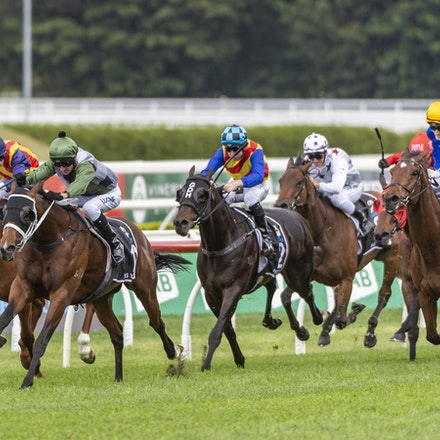 YesYesYes-BossGlen-20191019-2320 - Yes Yes Yes (Rubick - Sin Sin Sin) ridden by Glen Boss wins the 2019 TAB Everest (1200m) at Royal Randwick. 19 October...
