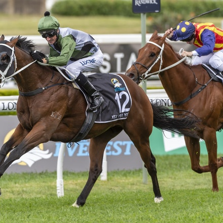 YesYesYes-BossGlen-20191019-2335 - Yes Yes Yes (Rubick - Sin Sin Sin) ridden by Glen Boss wins the 2019 TAB Everest (1200m) at Royal Randwick. 19 October...