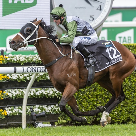 YesYesYes-BossGlen-20191019-2342 - Yes Yes Yes (Rubick - Sin Sin Sin) ridden by Glen Boss wins the 2019 TAB Everest (1200m) at Royal Randwick. 19 October...