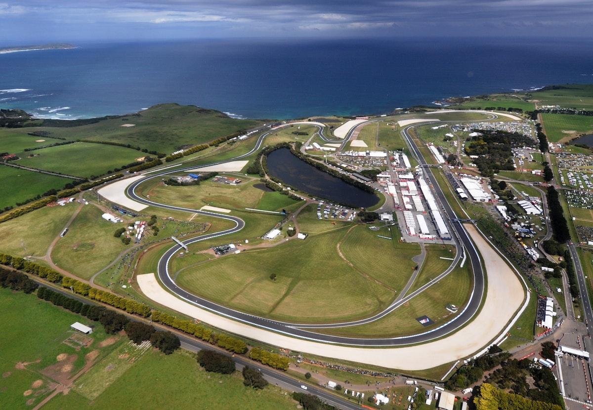 Aerial Phillip Island Grand Prix circuit credit Russell Colvin