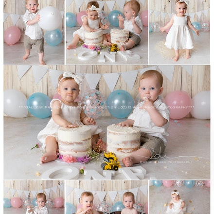 Carter and Indi -Cake Smash
