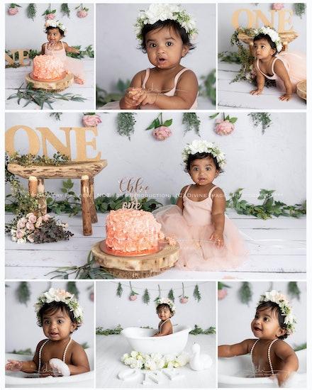 Chloe. cake smash collage.WM