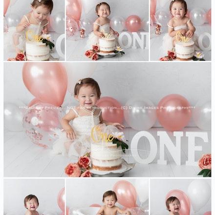 Erika 1 year. Cake smash