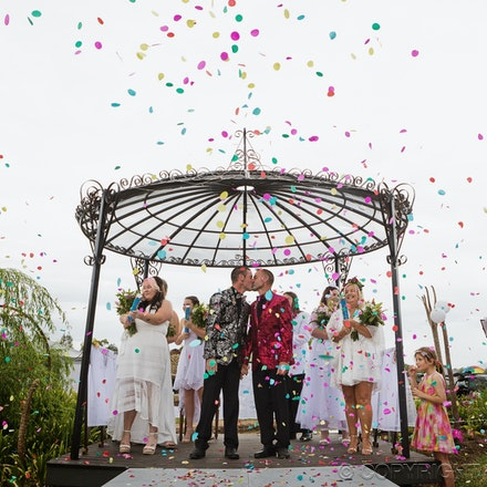 Rainbows - Gay, same sex wedding