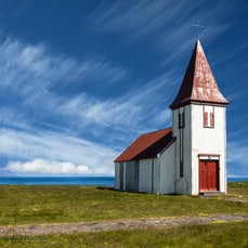 Iceland - Images from a trip around Iceland, showing birds, waterfalls, churches, scenery and horses. 