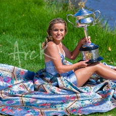 2020 Australian Open Day 14 Kenin Trophy Photoshoot - Featuring Kenin Trophy Photoshoot