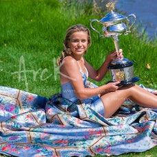 2020 Australian Open Day 14 Kenin Trophy Photoshoot - Featuring Kenin Trophy Photoshoot