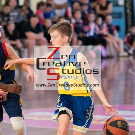 2018 BQSCs U14 Boys - 2018 Basketball Queensland Under 14 Boys State Championships held at Townsville Basketball - Action Photo Galleries