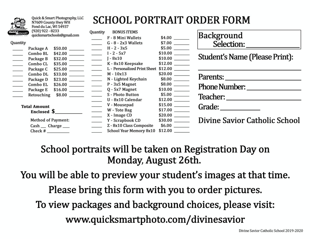 Divine Savior 8x11 Envelope for Registration Day