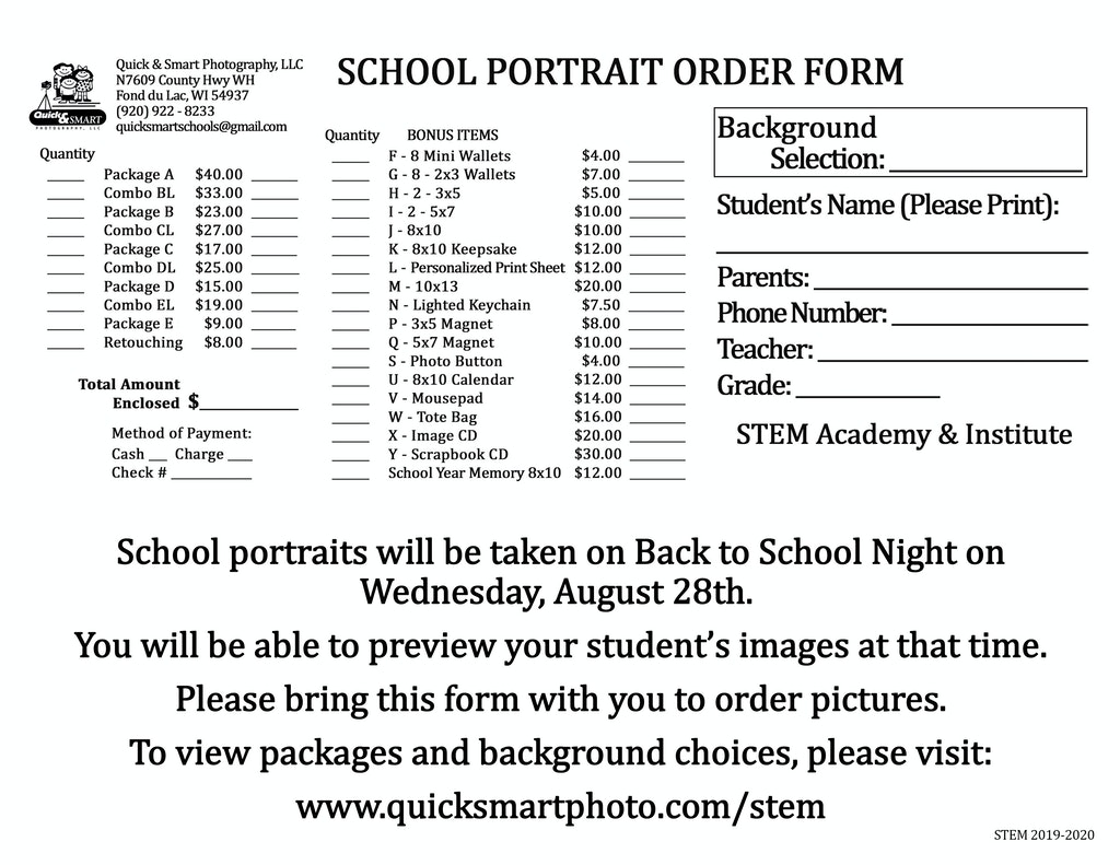 STEM 8x11 Envelope for Registration Day