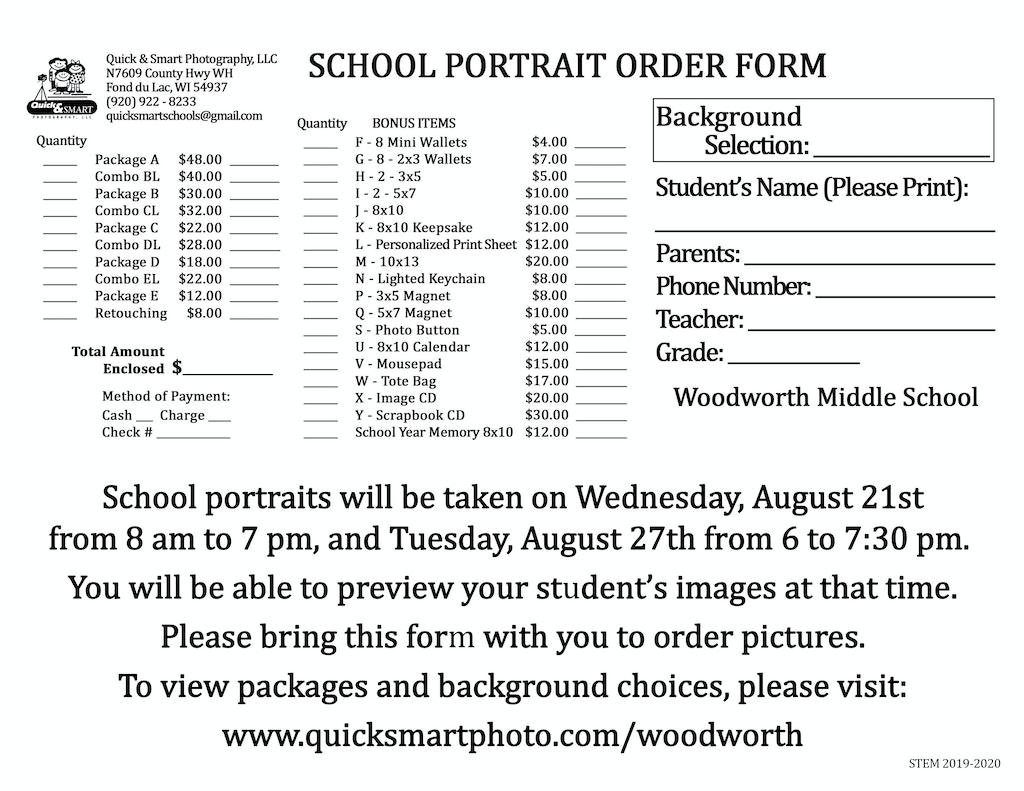 Woodworth 8x11 Envelope for Registration Day