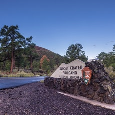 Sunset Crater Volcano National Monument - A cinder cone volcano, Sunset Crater is one of 550 vents in the San Francisco volcanic field near Flagstaff,...
